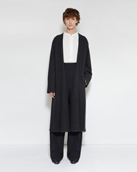 Christophe Lemaire Wrapover Coat Charcoal
