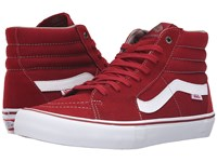 Vans Sk8 Hi Pro Red Dahlia White Men's Skate Shoes