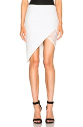 Mason By Michelle Mason Contrast Lace Skirt In White