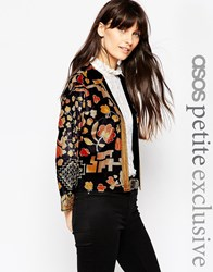 Asos Petite Exclusive Boxy Jacket In Winter Floral Winterfloral