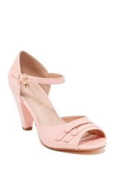 Restricted Deka Two Button Heel Sandal Pink