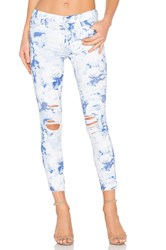 J Brand Low Rise Ankle Crop Demented Blue Floral Print