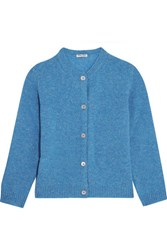 Miu Miu Wool Cardigan Blue