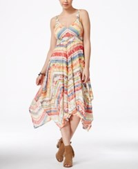 American Rag Juniors' Printed Handkerchief Hem Maxi Dress Only At Macy's Multi Stripe