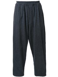 Gold Milling Wool Balloon Trousers Grey