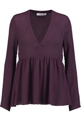 Elizabeth And James Araceli Silk Chiffon Top Purple