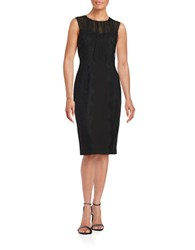 Vera Wang Lace Overlay Sheath Dress Black