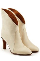 Chloe Ankle Boots With Leather White