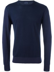 Lanvin Crew Neck Jumper Blue