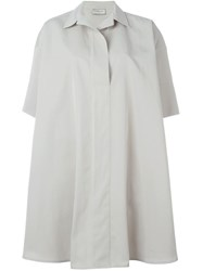 Lanvin Flared Shirt Dress Nude And Neutrals