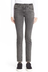Helmut Lang Skinny Ankle Jeans Gray