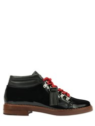 Tod's 30Mm Brushed Leather Lace Up Shoes