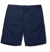 Oliver Spencer Kildale Cotton Shorts Indigo