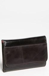 Women's Hobo 'Jill' Trifold Wallet Black