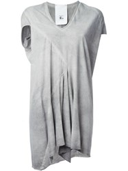 Lost And Found Ria Dunn V Neck Panel Detail T Shirt Dress Grey