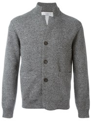 Brunello Cucinelli Patch Pocket Cardigan Grey