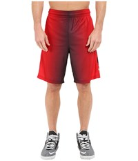 Nike Elite Stripe Plus Basketball Short Black University Red Black Metallic Silver Men's Shorts