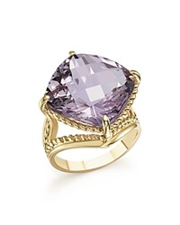Bloomingdale's Rose Amethyst Statement Ring In 14K Yellow Gold Pink Gold