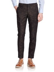 J. Lindeberg Botanic Jacquard Dress Pants Black Brown