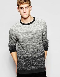 Jack And Jones Jack And Jones Knitted Ombre Jumper White