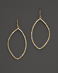 Kara Ross 18K Yellow Gold Small Hydra Outline Earrings With Pave Diamonds Gold White