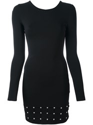 Versus Studded Long Sleeved Dress Black