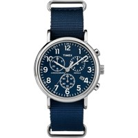 Timex Weekender Chrono Oversized Blue And Blue