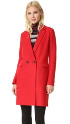 Harris Wharf London Double Breasted Coat Red