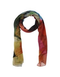 Oblong Scarves Military Green