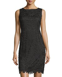 Chetta B Lace Sleeveless Sheath Dress Black