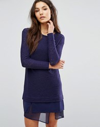 Sisley 2 In 1 Layer Jumper Dress Navy