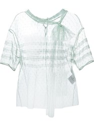 Red Valentino Sheer Tulle Blouse Green