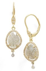 Meira T Women's Meirat Diamond And Semiprecious Stone Drop Earrings