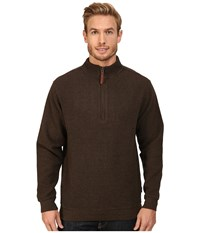 Woolrich Bromley Half Zip Mocha Heather Men's Clothing Brown