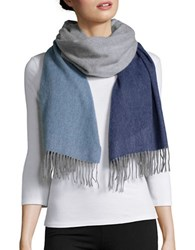 Lord And Taylor Cashmere Wrap Scarf Blue