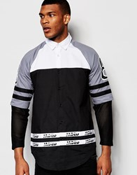 Jaded London Grey Varsity Ls Shirt Bk1 Black 1