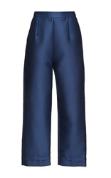 Isa Arfen Classic Blue Sea Cropped Pants