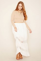 Forever 21 Plus Size Lace Panel Maxi Skirt