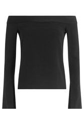 Roland Mouret Off The Shoulder Top With Ruffles Black