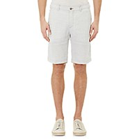 Massimo Alba Men's Striped Slub Weave Shorts White