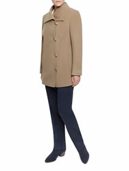 Eastex Taupe Asymetric Toggle Coat Neutral