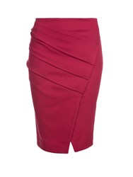 Relish Ruched Tube Skirt Red