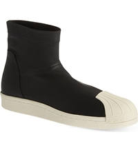 Rick Owens X Adidas Superstar Ankle Boots Black White