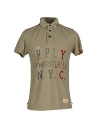 Replay Polo Shirts Military Green