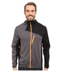 Spyder Thasos Windbreaker Shell Jacket Polar Black Bright Orange Men's Coat