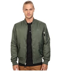 Huf Elite Reversible Ma 1 Jacket Olive Drab Black Men's Coat