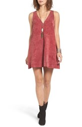 Free People Women's 'Retro Love' Suede Trapeze Minidress