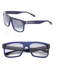 Alexander Mcqueen 56Mm Square Wrap Sunglasses Blue