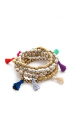 Lacey Ryan Happy Hands Bracelet Set Gold Multi