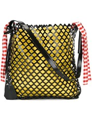 Marques Almeida Marques'almeida Oversized Netted Shoulder Bag Black